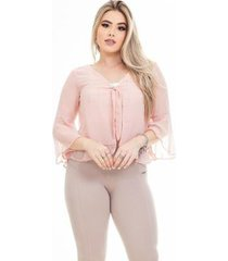 blusa clara arruda sobreposição feminina