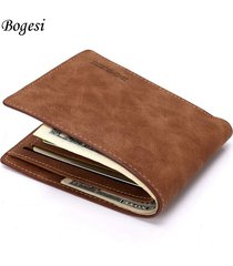 new men's purse short jacket wallet fashion retro synthetic leather wallet men's