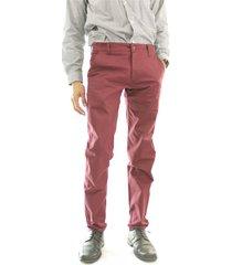 pantalón casual dril elástico slim aranzazu epsilon vinotinto