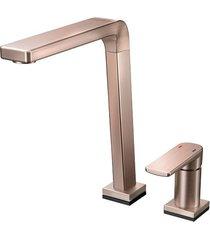 misturador monocomando para cozinha mesa bistrô tech sem ducha manual cobre escovado - 00699569 - docol - docol
