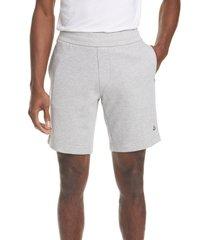 men's moncler corto fleece sweat shorts, size x-small - grey
