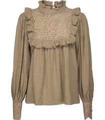 broderie blouse lala  camel