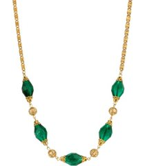 2028 women's 14k gold dipped bead and filigree necklace