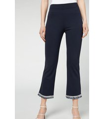 calzedonia flared cropped leggings woman blue size s