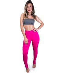 calça legging mvb modas pezinho cintura alta rosa
