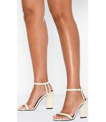 topshop cream strap sandals high heel