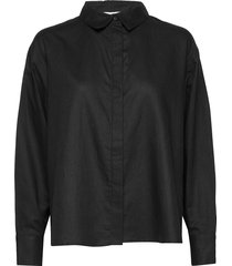 bri shirt overhemd met lange mouwen zwart stylein