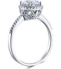 vintage halo 925 sterling silver wedding engagement ring 2 carat lab diamond