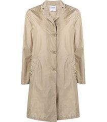 aspesi mid-length button-front coat - neutrals