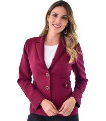 chaqueta xuss 41150 vinotinto
