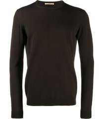 nuur fine knit sweatshirt - brown