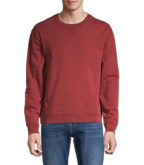 7 for all mankind men's colored cotton sweatshirt - russet - size m