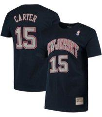 mitchell & ness men's new jersey nets hd print player t-shirt - vince carter