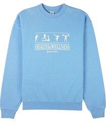 health & wellness crewneck sweatshirt riviera blue
