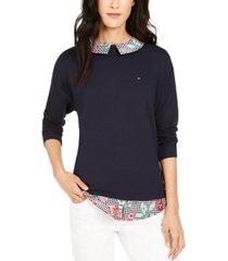 tommy hilfiger layered-look sweatshirt