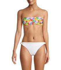 moschino women's fantasia varia printed bikini top - size 2 (m)