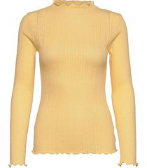 pointella trutte t-shirts & tops long-sleeved geel mads nørgaard