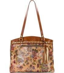 patricia nash french tapestry poppy leather tote