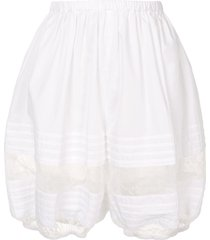 dolce & gabbana lace-trimmed shorts - white