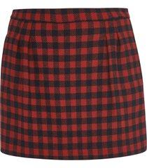 red valentino checked shorts