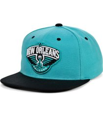 mitchell & ness new orleans pelicans minted snapback cap