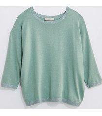 loft loft plus shimmer 3/4 sleeve sweater