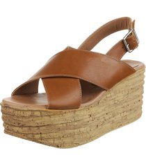 sandalia de  cuero suela fionna