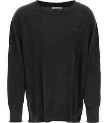 a-cold-wall essentials crewneck sweater with logo embroidery