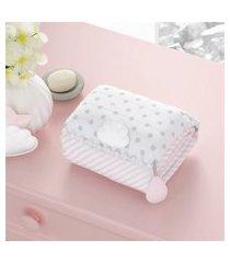 trocador bebê portátil rosa nuvem de algodão grão de gente rosa