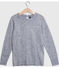 sweater io   liso gris - calce regular