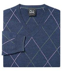 traveler collection merino wool v-neck argyle men's sweater clearance