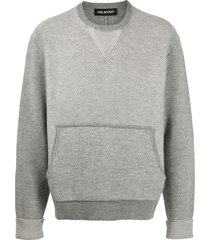 neil barrett travel knitted sweatshirt - grey