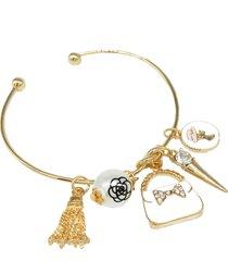 bracelet charm open adjustable pendant bag medallion gift birthday wedding 1 pcs