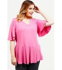 camiseta unicolor rosa 14