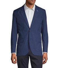 standard-fit printed blazer