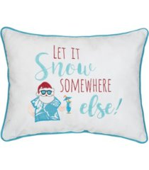 c & f home let it snow embroidered pillow