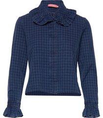 delaila shirt blouse lange mouwen blauw britt sisseck