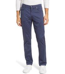brax cooper prestige straight leg stretch cotton pants, size 36 x 34 in ocean at nordstrom