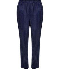 pantalón azul a rayas color azul, talla 16