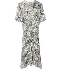 bardeny dress in ecru/almond