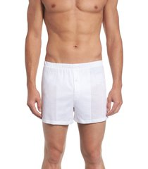 men's hanro cotton sporty knit boxers, size x-large - white