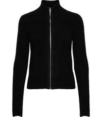 soft wool knit gebreide trui cardigan zwart ganni
