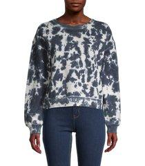 525 america women's tie-dyed cotton sweatshirt - multi coal - size l