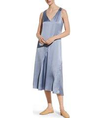 women's vince seamed v-neck silk sleeveless dress