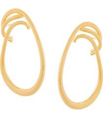 charlotte chesnais round trip maxi earrings - gold