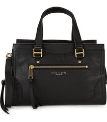 marc jacobs women's cruiser leather convertible satchel - black