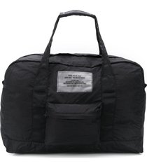 diesel packable dictionary logo duffle bag - black