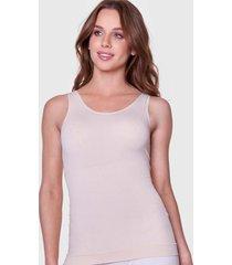 camiseta reductora sin costura beige baziani