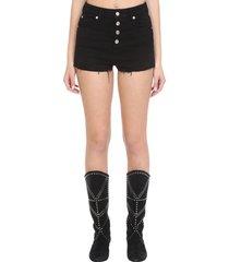 iro bastil shorts in black cotton