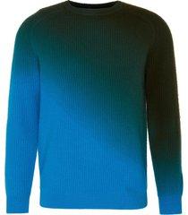 'duke' dip dye rib knit cashmere sweater